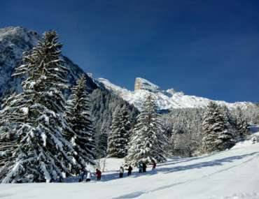 Raquettes à neige en Vanoise